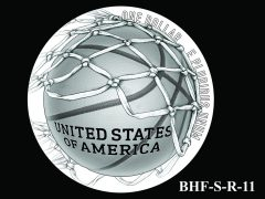 Reverse 2020 Basketball Coin Design Candidate BHF-S-R-11