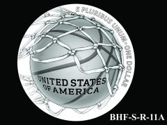 Reverse 2020 Basketball Coin Design Candidate BHF-S-R-11A