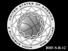Reverse 2020 Basketball Coin Design Candidate BHF-S-R-12