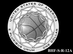 Reverse 2020 Basketball Coin Design Candidate BHF-S-R-12A