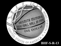 Reverse 2020 Basketball Coin Design Candidate BHF-S-R-13