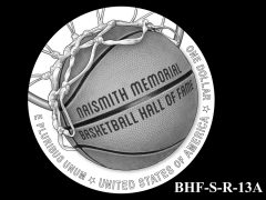Reverse 2020 Basketball Coin Design Candidate BHF-S-R-13A
