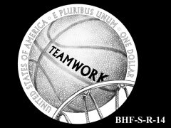 Reverse 2020 Basketball Coin Design Candidate BHF-S-R-14