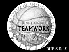Reverse 2020 Basketball Coin Design Candidate BHF-S-R-15