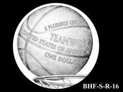 Reverse 2020 Basketball Coin Design Candidate BHF-S-R-16