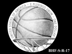 Reverse 2020 Basketball Coin Design Candidate BHF-S-R-17