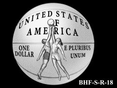 Reverse 2020 Basketball Coin Design Candidate BHF-S-R-18