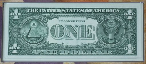 Series 2017 $1 Federal Reserve note - back