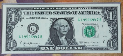 Series 2017 $1 Federal Reserve note - front