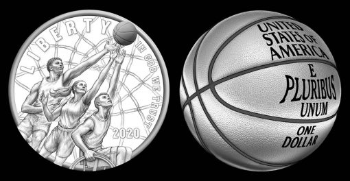 Two 2020 Basketball Commemorative Coin Design Candidates