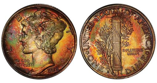 lot 220, a monster toned 1938-S PCGS MS68+ FB CAC