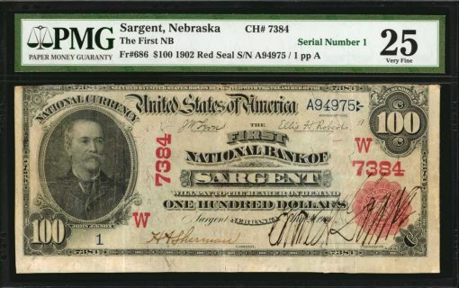 $100 1902 Red Seal