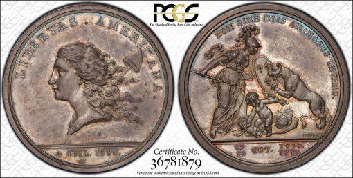 1783 Libertas Americana Silver
