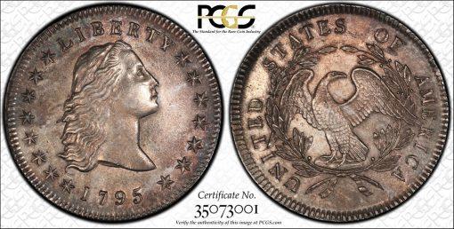 1795 Flowing Hair Dollar PCGS AU55