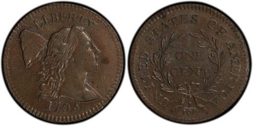 1795 Liberty Cap Cent PCGS MS63