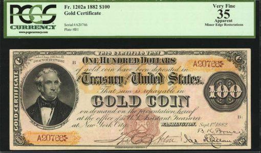 1882 $100 Gold Certificate
