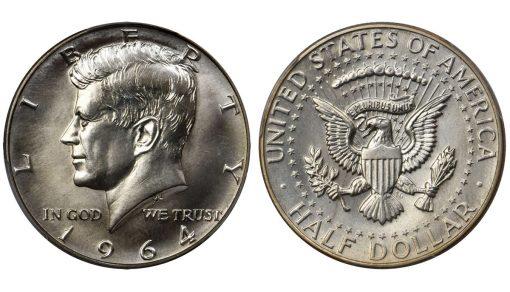 1964 Kennedy Half Dollar. SMS. Specimen-68 (PCGS)