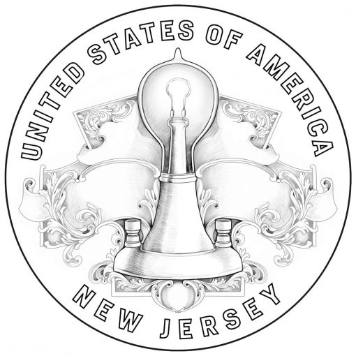 2019 American Innovation Dollar Design for New Jersey