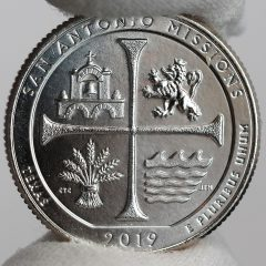 US Mint Sales: San Antonio Missions Quarters and 5 Oz. Coin Debut