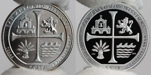 2019-P Uncirculated and Proof San Antonio Missions National Historical Park quarters