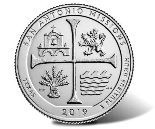 2019 San Antonio Missions National Historical Park Quarter
