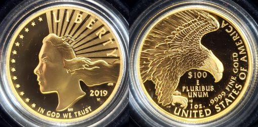 2019-W $100 American Liberty 1 oz. Gold Coin