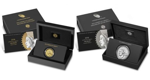 2019-W $100 American Liberty Gold Coin and 2019-P American Liberty Silver Medal