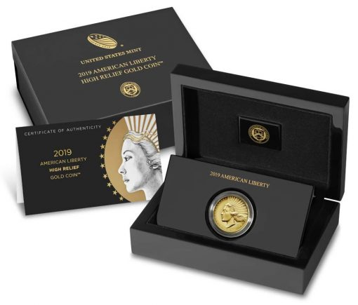 2019-W American Liberty High Relief Gold Coin - Packaging