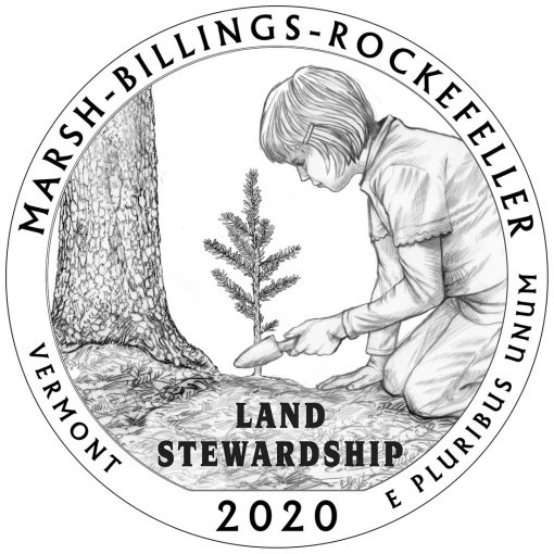 2020 Marsh-Billings-Rockefeller National Historical Park Quarter and 5oz Coin Design