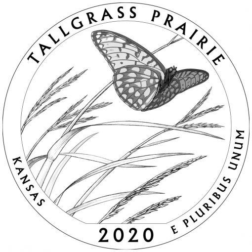 2020 Tallgrass Prairie National Preserve Quarter and 5oz Coin Design
