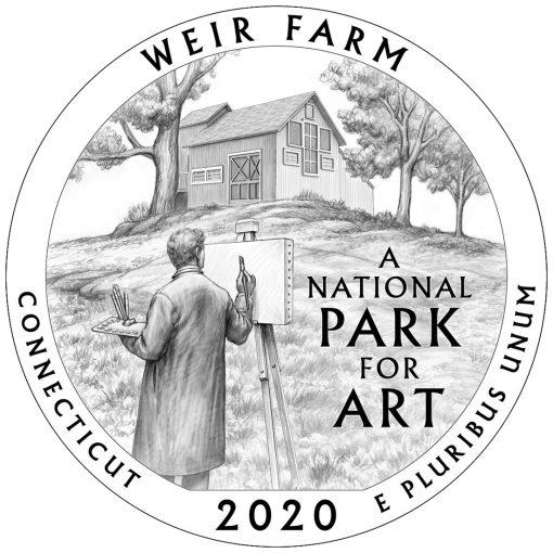 2020 Weir Farm National Historic Site Quarter and 5oz Coin Design