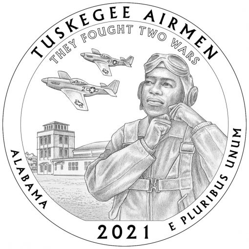 2021 Tuskegee Airmen National Historic Site Quarter and 5oz Coin Design