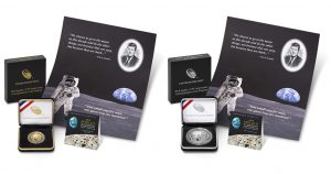 U.S. Mint-BEP Products Pair Apollo 11 Coins with Kennedy-Apollo 11 Print