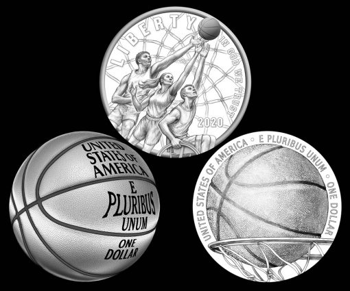 CCAC and CFA Recommended 2020 Basketball Commemorative Coin Designs