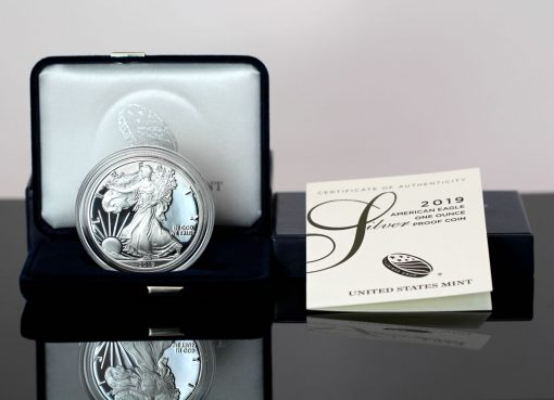 CoinNews photo 2019-S Proof American Silver Eagle, case and certificate