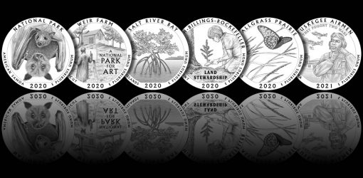 Designs - 2020-2021 America the Beautiful Quarters and America the Beautiful Five Ounce Silver Coins