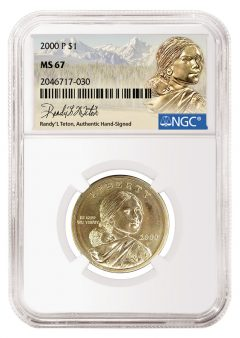 Model for the Sacajawea Dollar to Hand-Sign NGC Labels