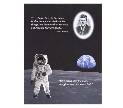 Kennedy-Apollo 11 Intaglio Print