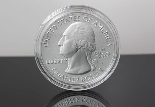 Obverse of a 2019-P ATB Five Ounce Silver Uncirculated Coin