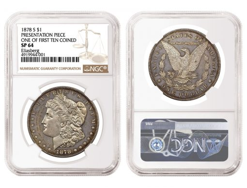 One of the first 10 Morgan Dollars struck by the San Francisco Mint
