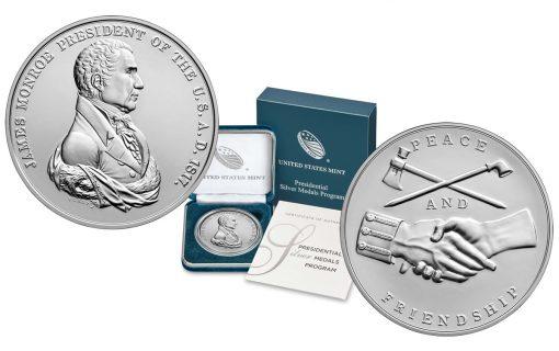 U.S. Mint images James Monroe Presidential Silver Medal
