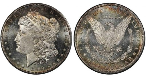 Lot 407. $1 1889-CC PCGS MS63+ PL CAC realized $99,875