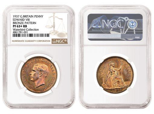 1937 Great Britain Edward VIII Pattern Bronze Penny