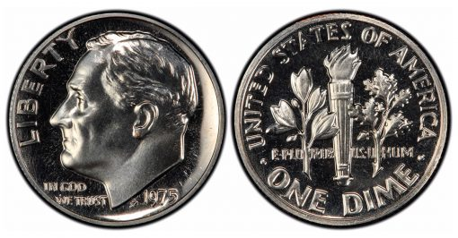 1975 no S proof dime PCGS PR68