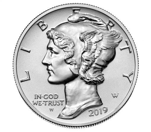 2019-W $25 Reverse Proof American Palladium Eagle - Obverse Side
