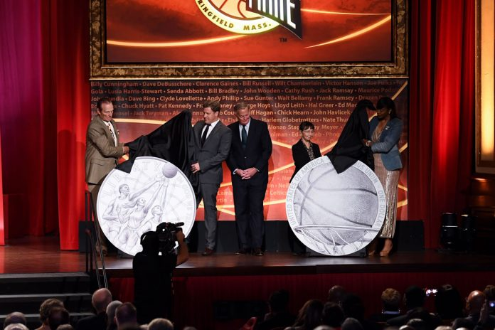 Basketball coin designs unveiling