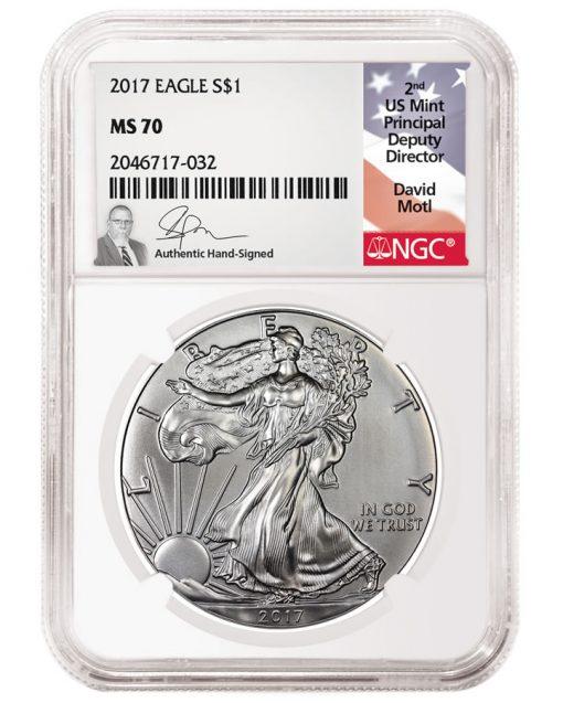David Motl NGC Label and Coin
