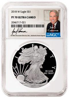 Jon J. Cameron, Veteran U.S. Mint Official, To Autograph NGC Labels