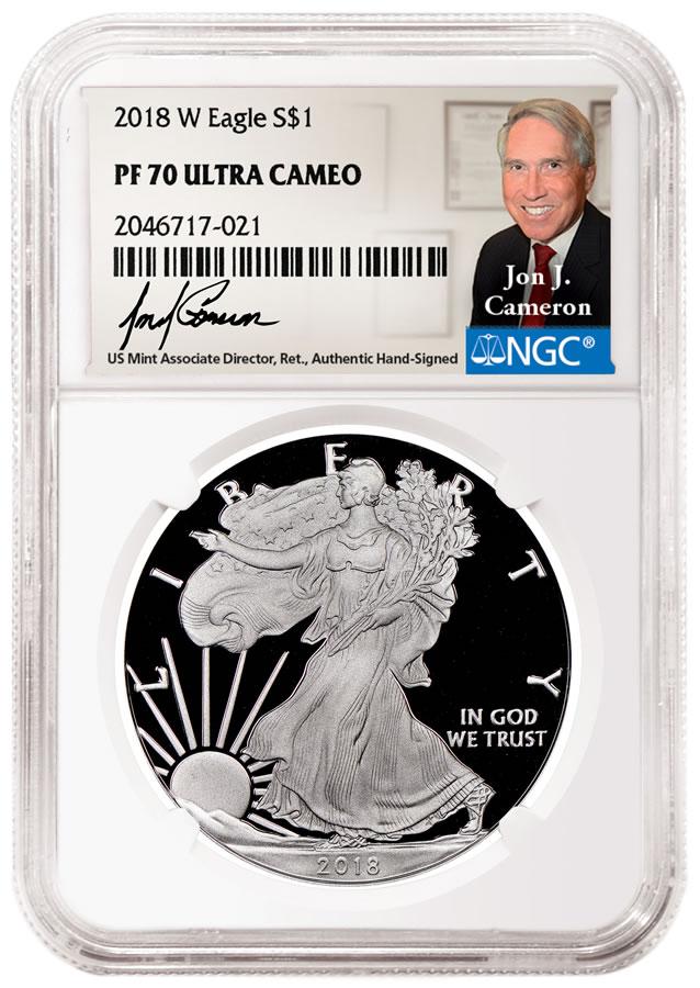 Jon Cameron NGC label and coin