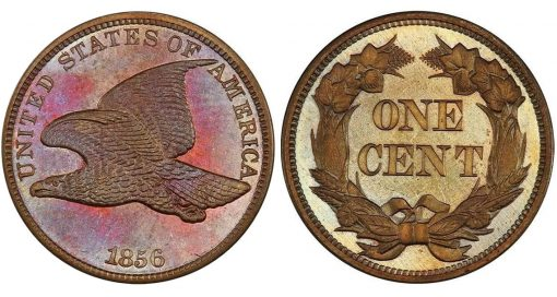 Lot 5. 1C 1856 Flying Eagle. PCGS PR66 CAC realized $70,500